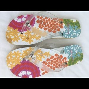 a53f90911 Brighton Shoes - Brighton Flip Flops Size 8. EUC pops with color